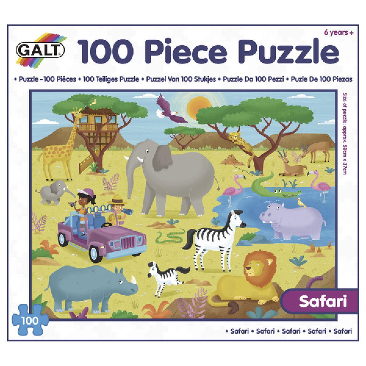 GALT 100 Puzzle v krabici Safari