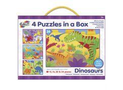 GALT 4 Puzzle v krabici - Dinosauři