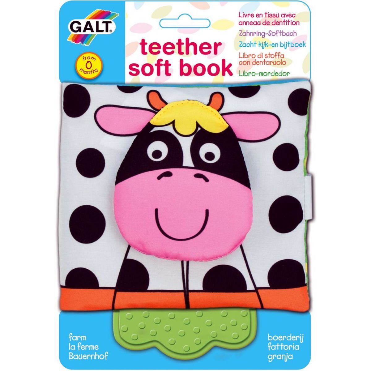 Galt Dětská knížka s kousátkem - farma