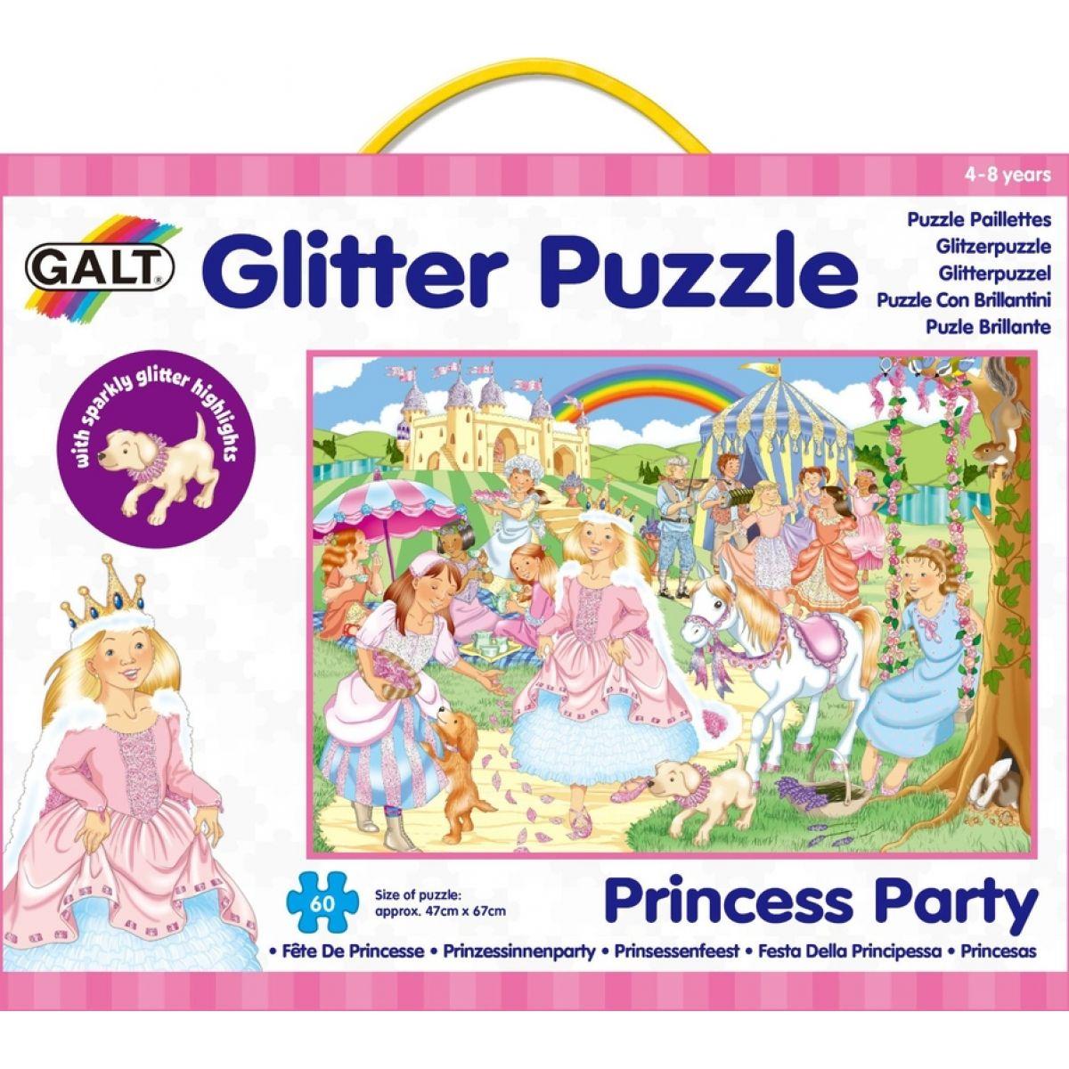 Galt Puzzle třpytivé - princezny 60d