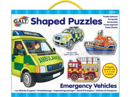Galt Tvarované puzzle Záchrané vozy 18 dílků