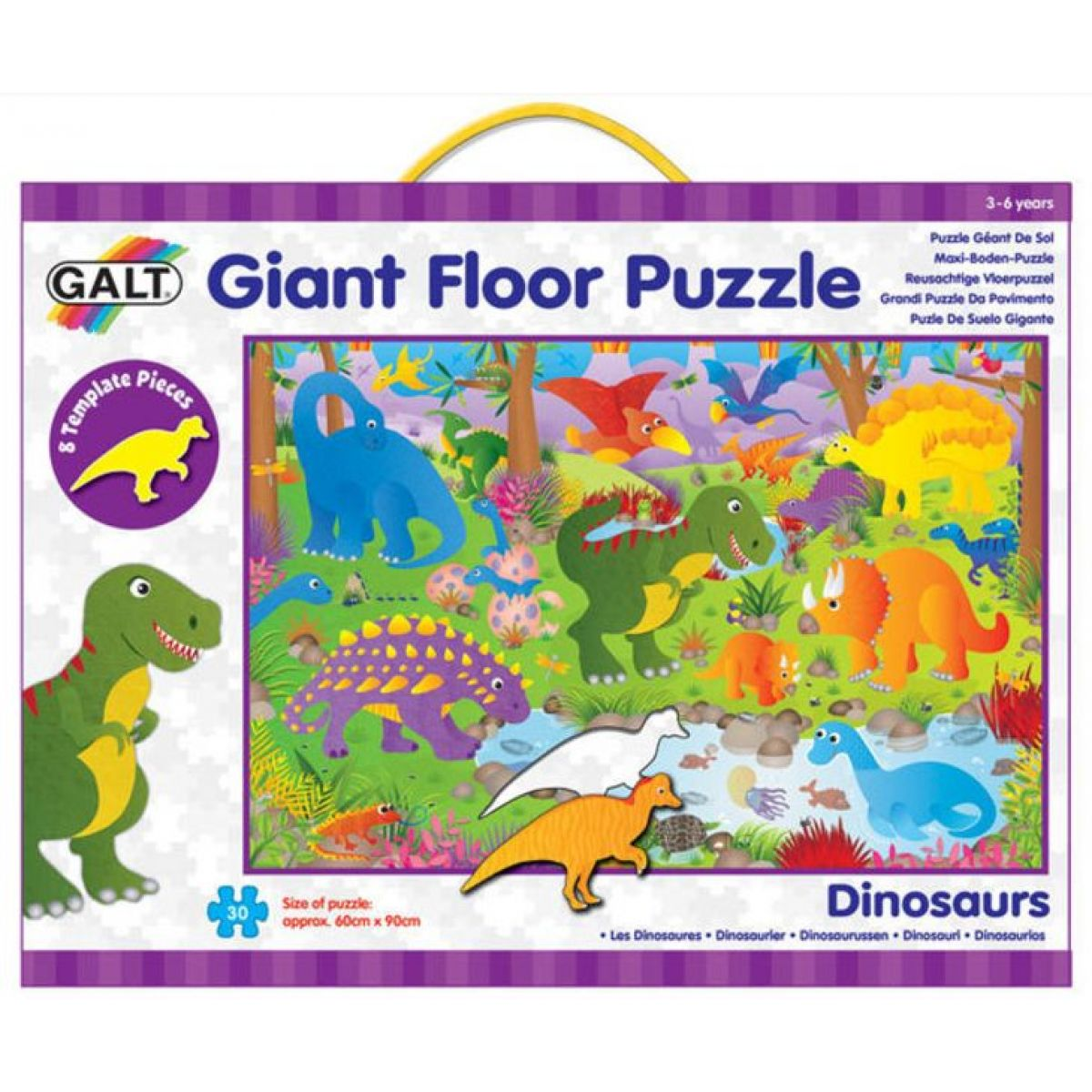 Galt Velké podlahové puzzle Dinosauři 30 dílků