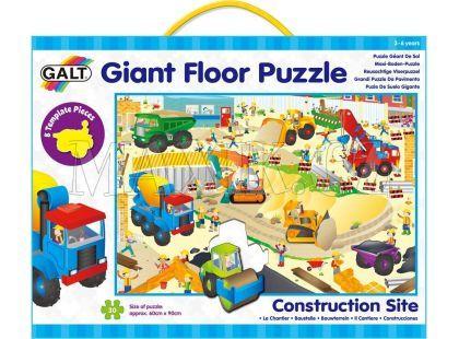 Galt Velké podlahové puzzle Na staveništi 30 dílků