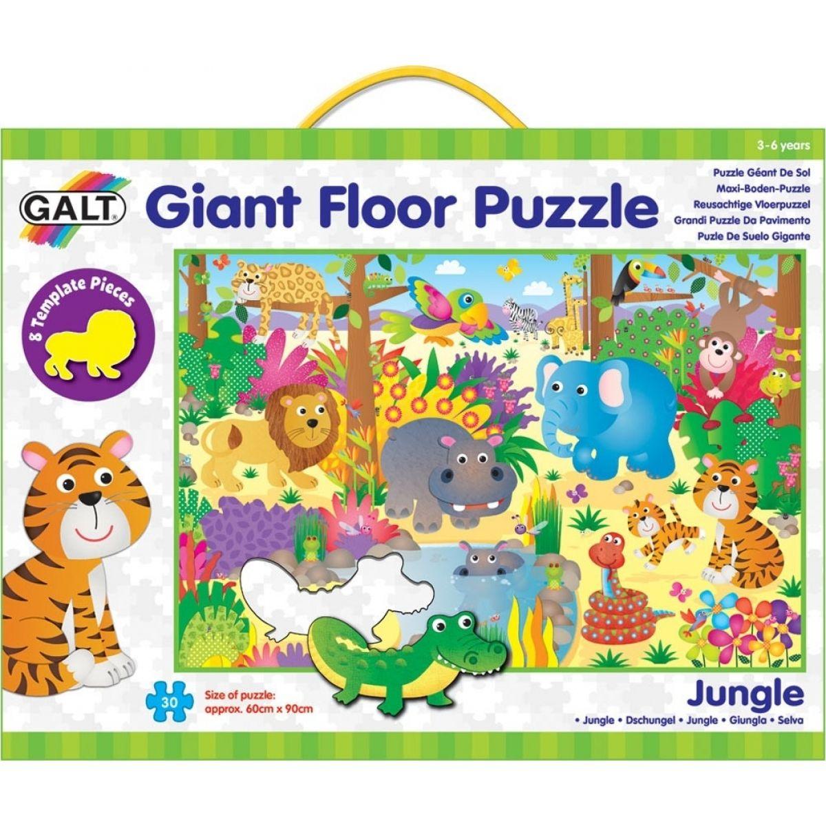 Galt Velké podlahové puzzle Zvířátka v džungli 30 dílků