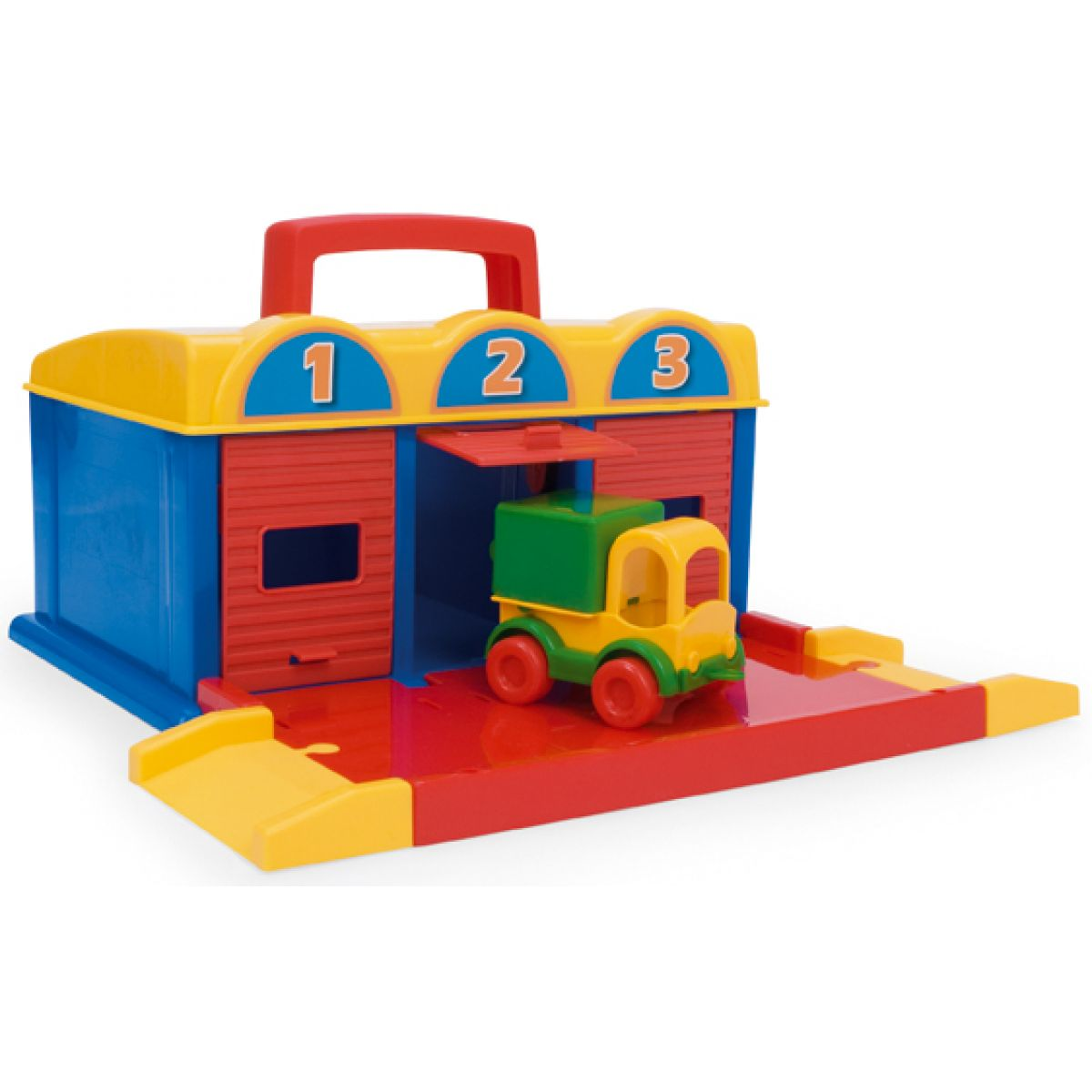 Garáž kid car 3 boxy Wader 50950