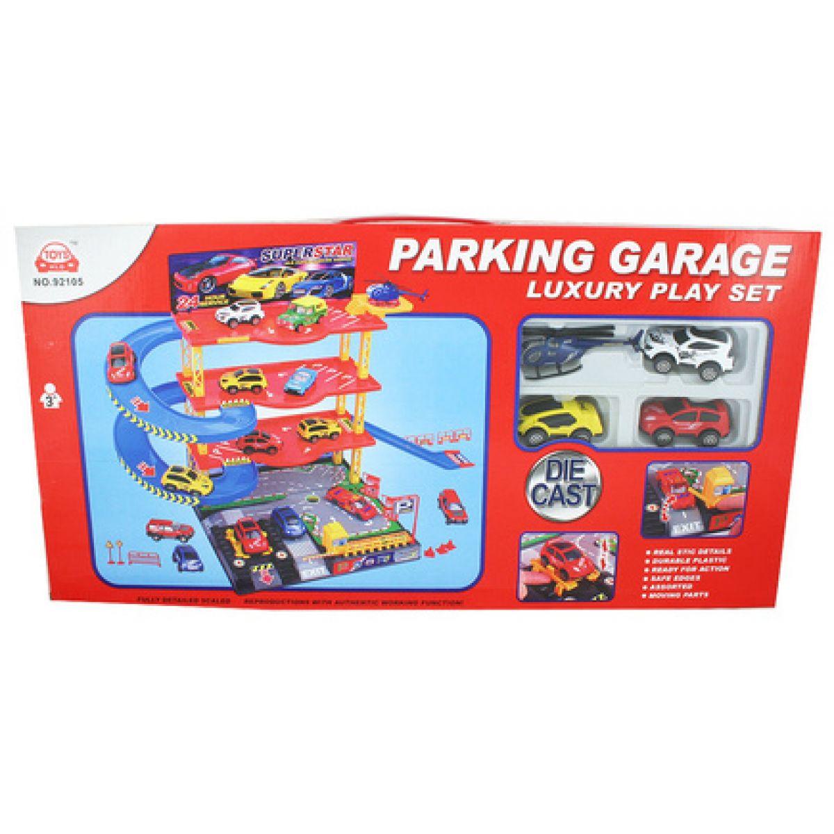 Garáž parkovací 3patra s autíčky