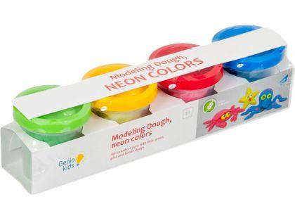 Genio Kids Kelímky s modelínou 4 barvy neon