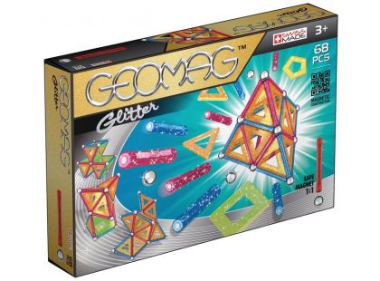 Geomag Glitter 68 pcs - Dlouhé tyčky