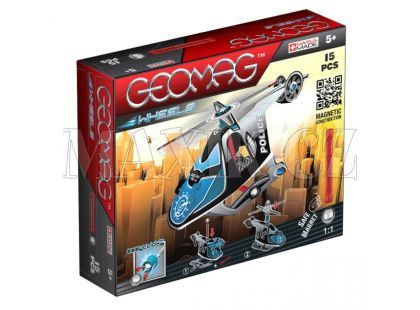 Geomag Wheels Helicopter 15 pcs - Dlouhé tyčky