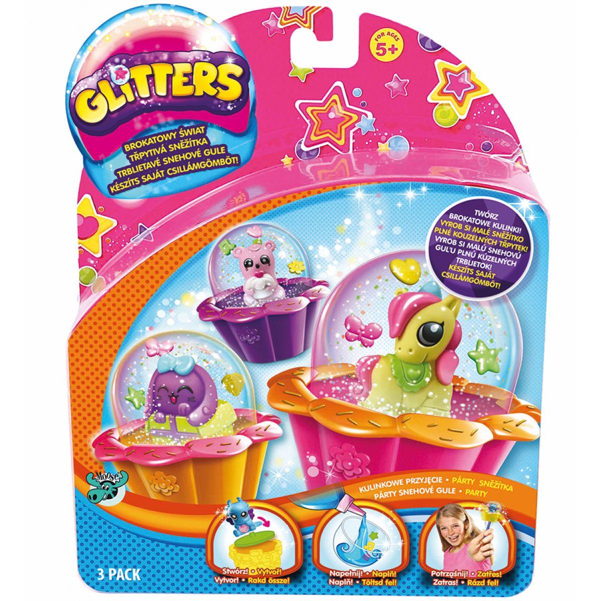 Glitters třpytivá sněžítka 3-pack - Párty sněžítka