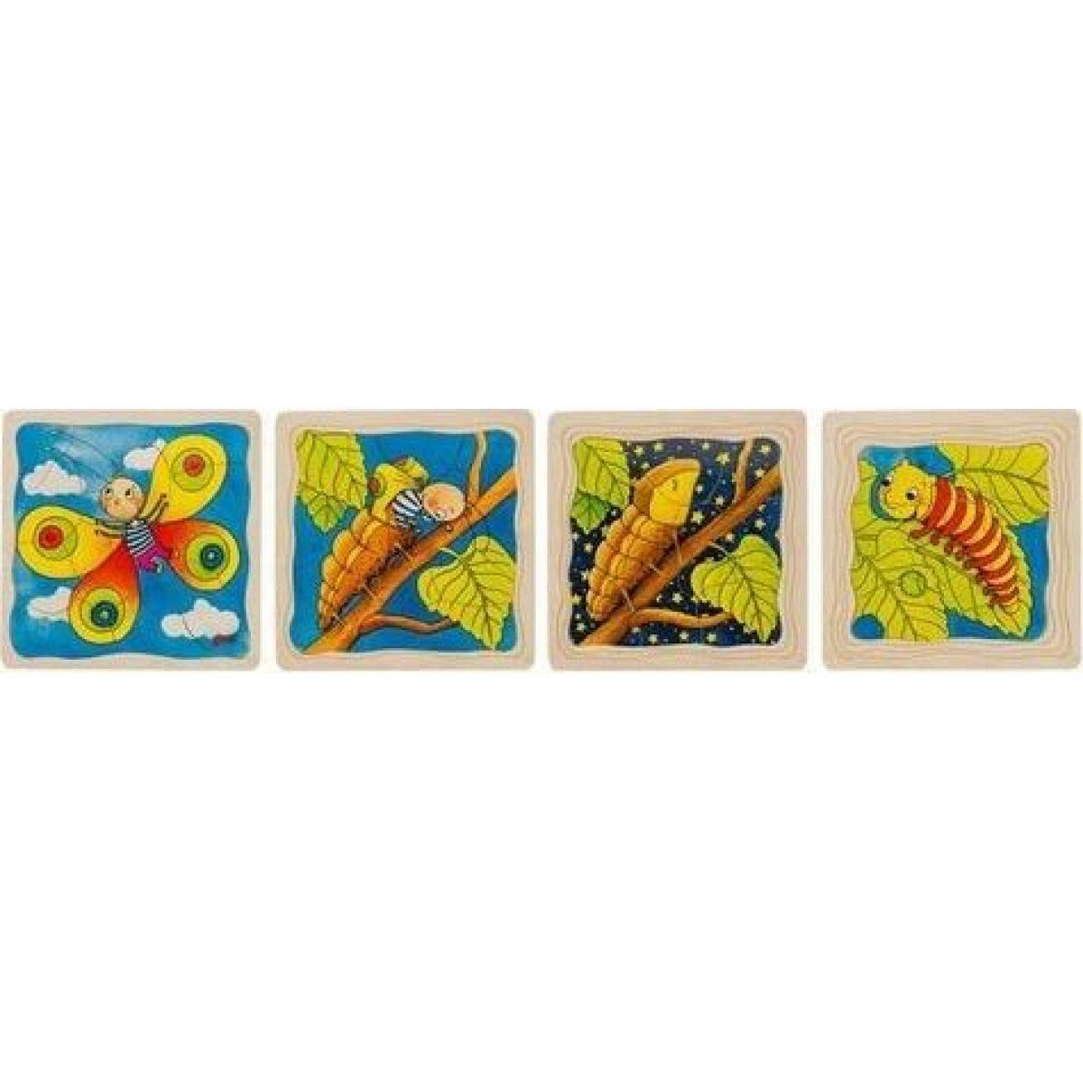 Goki Motýl vývojové vrstvené puzzle