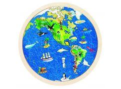 Goki Oboustranné puzzle Zeměkoule