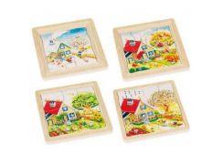 Goki Vícevrstvé puzzle Roční období