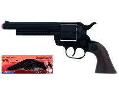 Gonher Kovbojský revolver kovový černý 12 ran