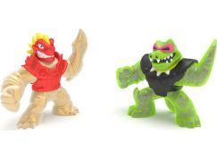 Goo Jit Zu figurky Blazagon vs. Rock Jaw dvojbalení 12 cm