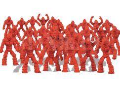 Gormiti Cartoon Neorganic 4 cm mini bojovníci - Červená