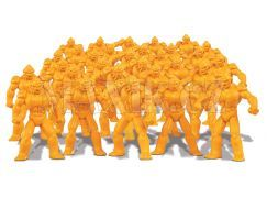 Gormiti Cartoon Neorganic 4 cm mini bojovníci - Žlutá