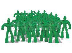 Gormiti Cartoon Neorganic 4 cm mini bojovníci - Zelená