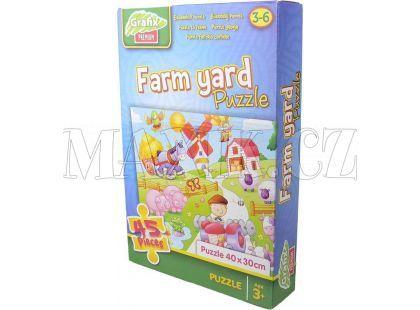 Grafix Puzzle 45 dílků - Farma