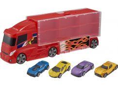 Halsall Teamsterz kufřík v designu náklaďáku se 4 autíčky