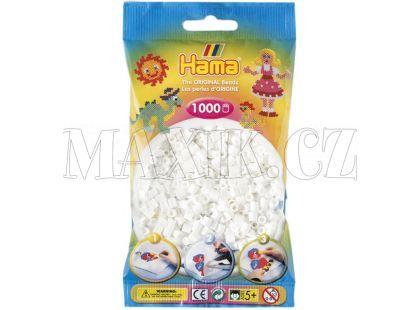 Hama H207-01 Midi korálky bílé 1000ks