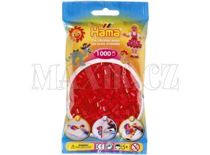 Hama H207-05 Midi korálky červené 1000ks