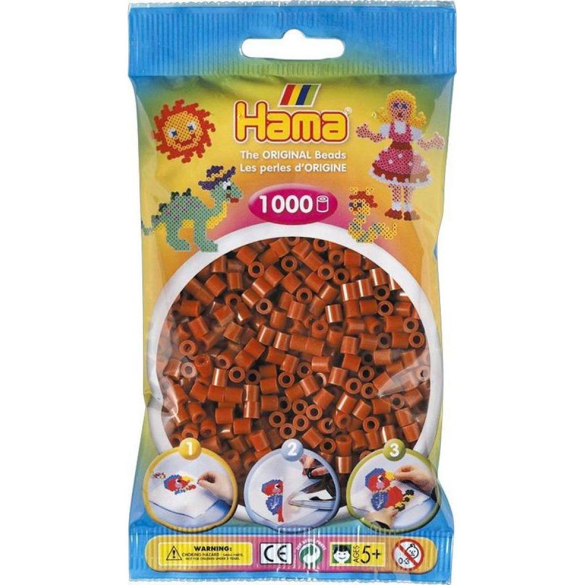 Hama H207-20 Midi Středně hnědé korálky 1000 ks