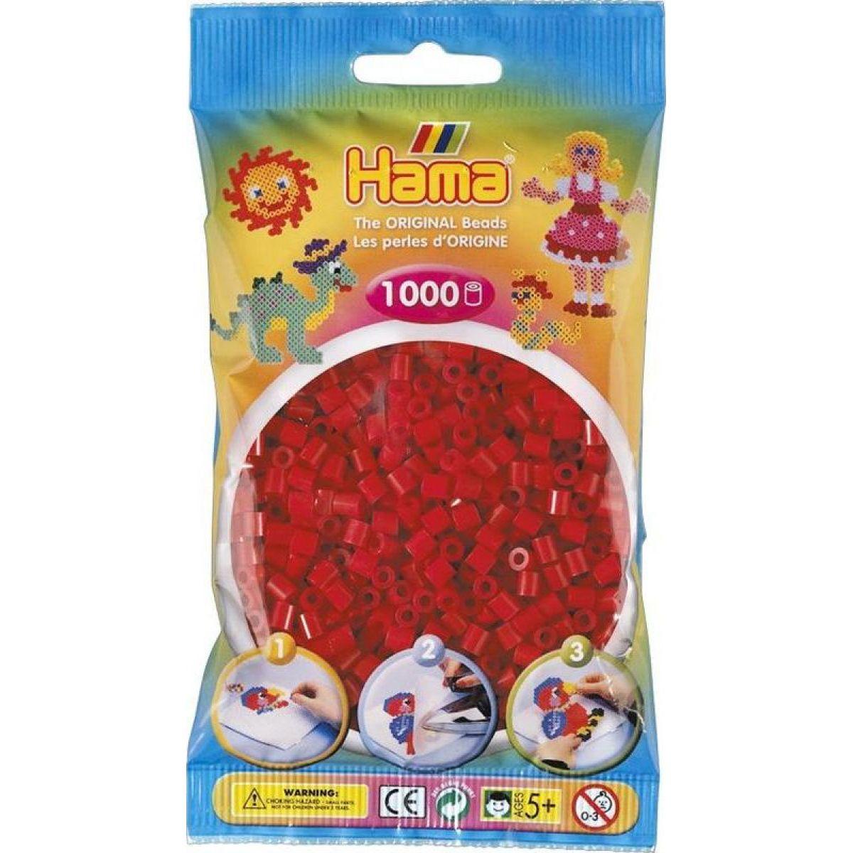 Hama H207-22 Midi Tmavě červené korálky 1000 ks