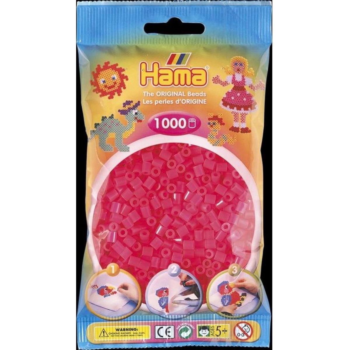 Hama H207-32 Midi Neonové růžové 1000 ks