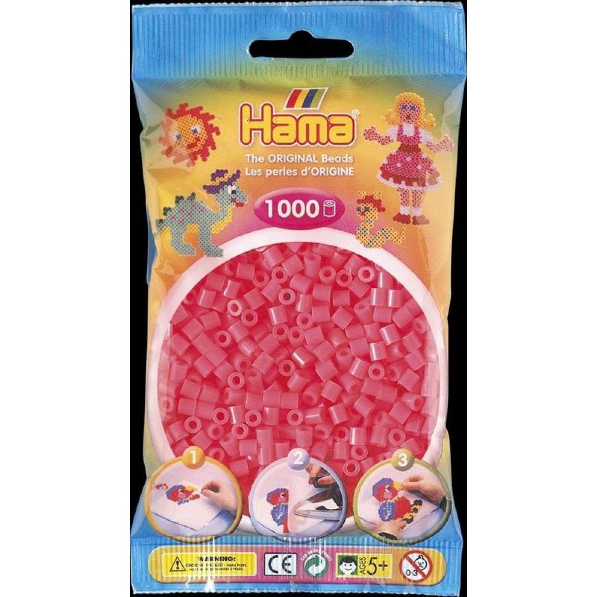Hama H207-33 Midi Neonové červené 1000 ks