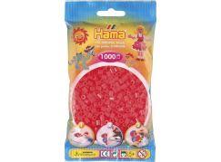 Hama H207-35 Neonové červené korálky 1000 ks Midi