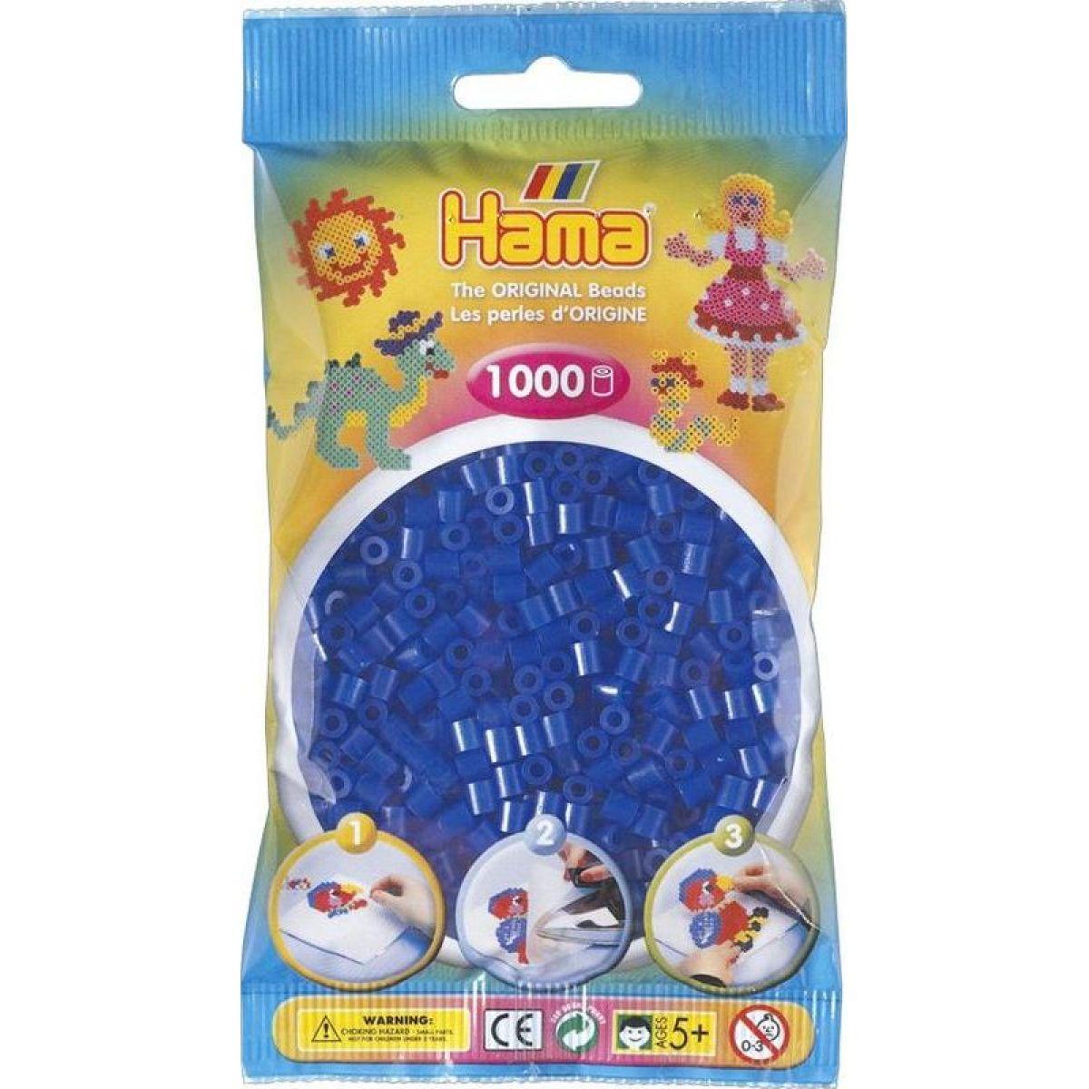 Hama H207-36 Midi Neonové modré korálky 1000 ks