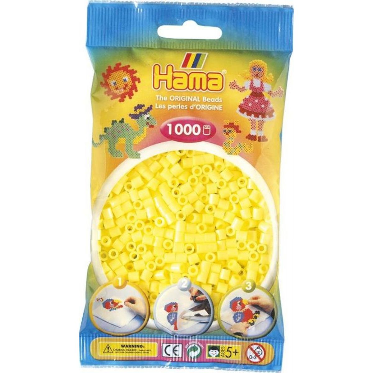 Hama H207-43 Midi Pastelově žlutá 1000 ks