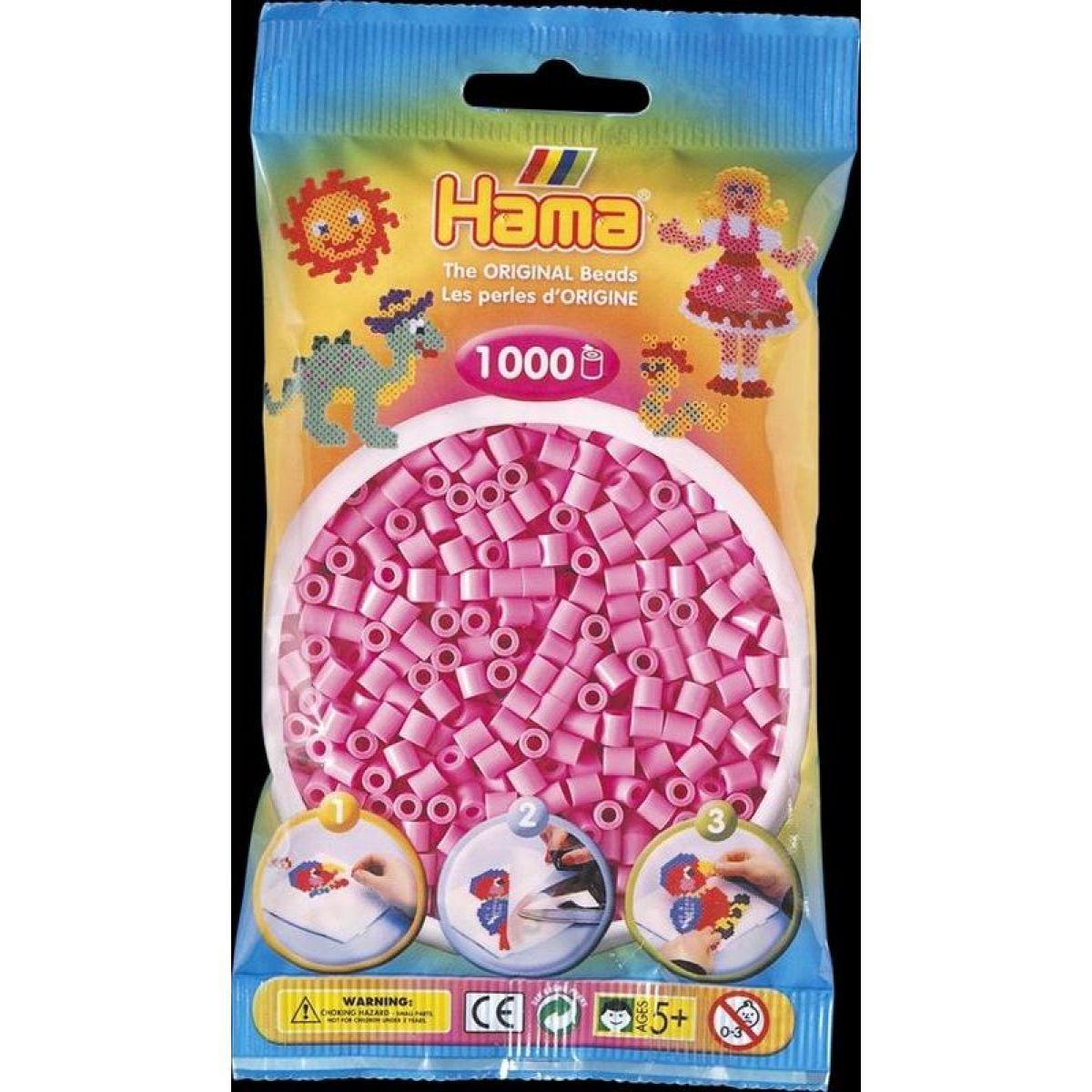 Hama H207-48 Midi Pastelové růžové korálky 1000 ks