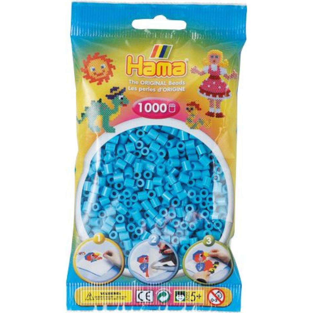 Hama H207-49 Midi Azurově modré korálky 1000 ks