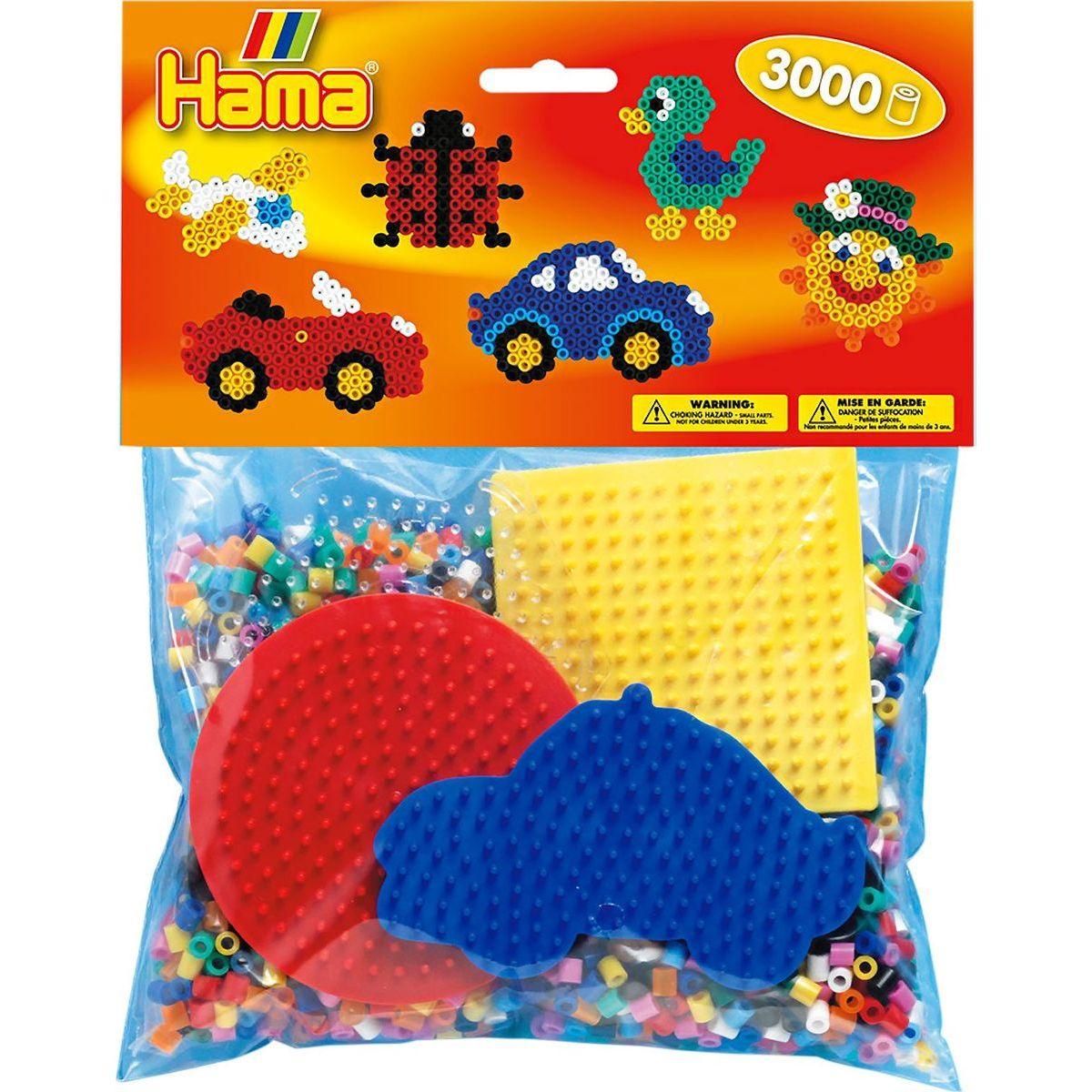 Hama H4413 Mix korálků a podložek Midi