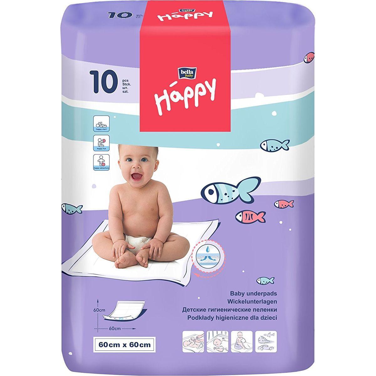 Happy Baby dětské podložky 60x60 cm á 10 ks