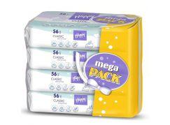 Happy vlhčené ubrousky Classic Sensitive á 56 x 4 – Mega Pack