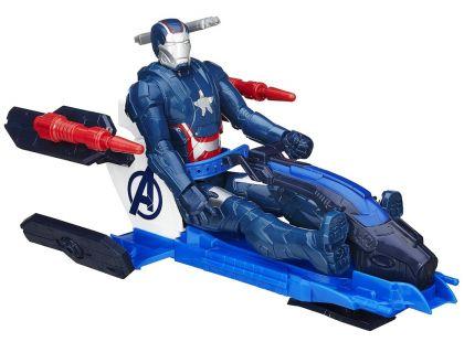 Hasbro Avengers Akční figurka s novým vozem 30cm - Iron Patriot