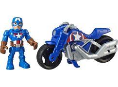 Hasbro Avengers Super Heroes figurka a motorka Captain America