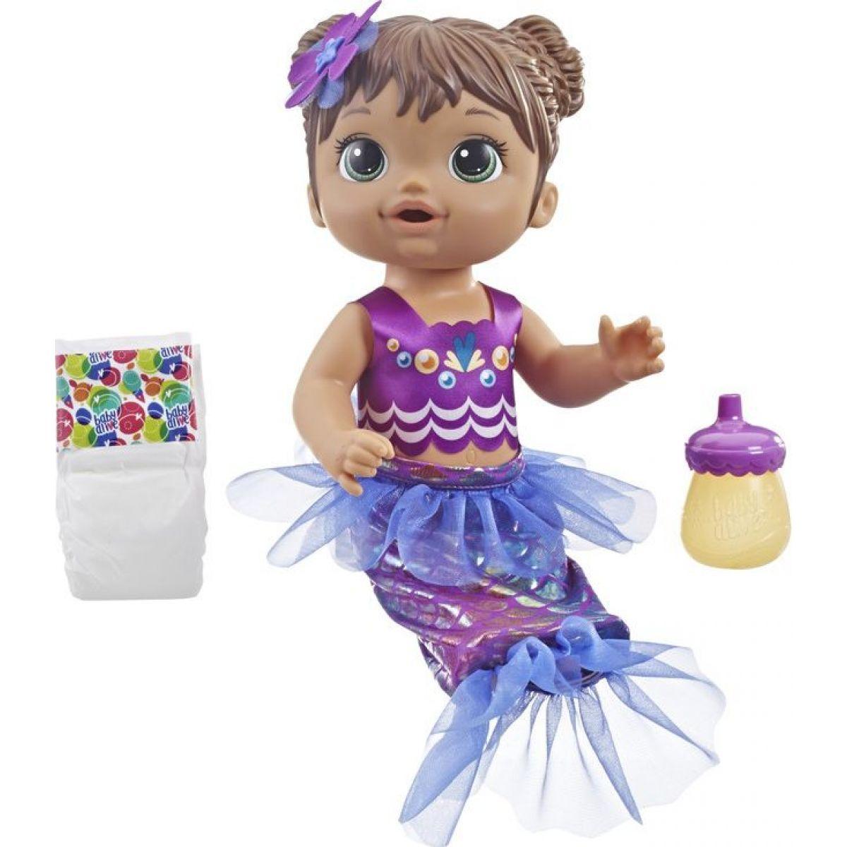 Hasbro Baby Alive tmavo-vlasá mořská panna
