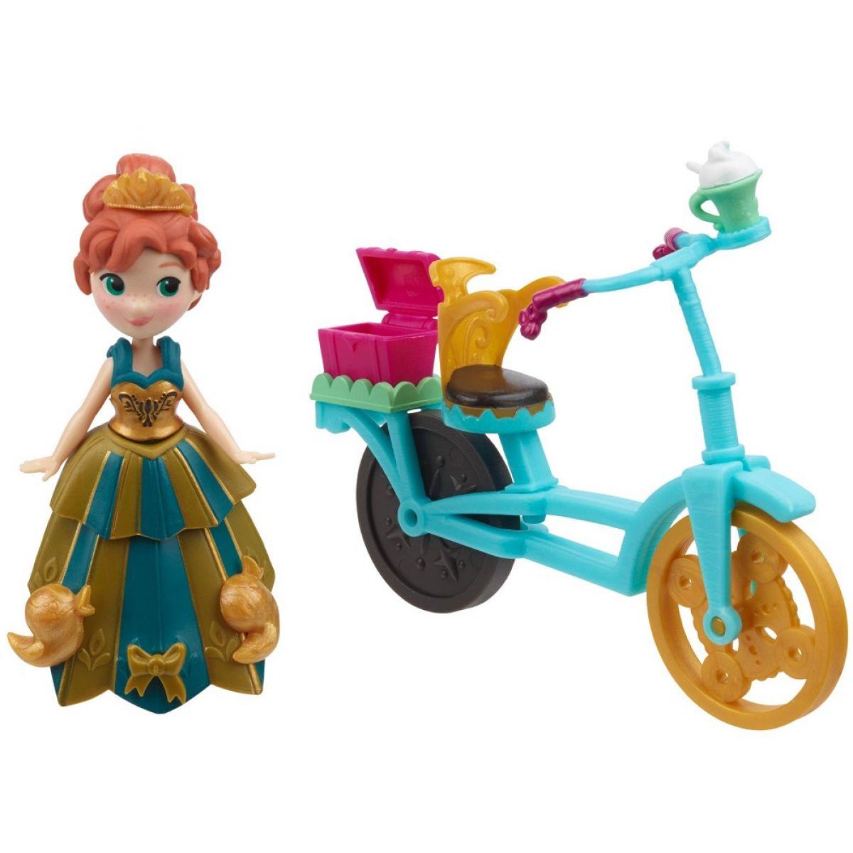 Hasbro Disney Frozen Little Kingdom Mini panenka s doplňky - Anna & Bicycle