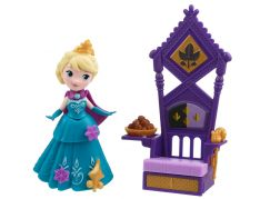 Hasbro Disney Frozen Little Kingdom Mini panenka s doplňky - Elsa & Throne