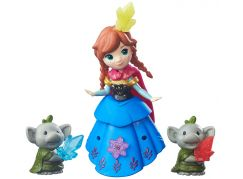 Hasbro Disney Frozen Little Kingdom Mini panenka s kamarádem - Anna & Rock Trolls