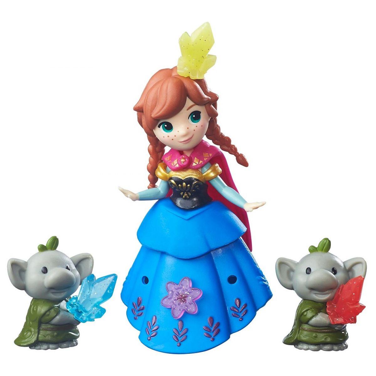 Hasbro Disney Frozen Little Kingdom Mini panenka s kamarádem - Anna & Rock Trolls