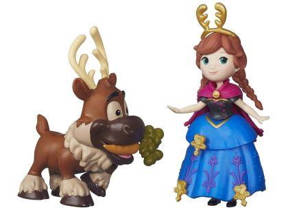 Hasbro Disney Frozen Little Kingdom Mini panenka s kamarádem - Anna & Sven
