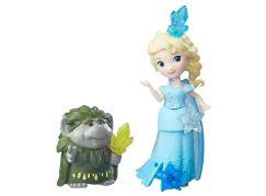 Hasbro Disney Frozen Little Kingdom Mini panenka s kamarádem - Elsa & Grand Pabbie