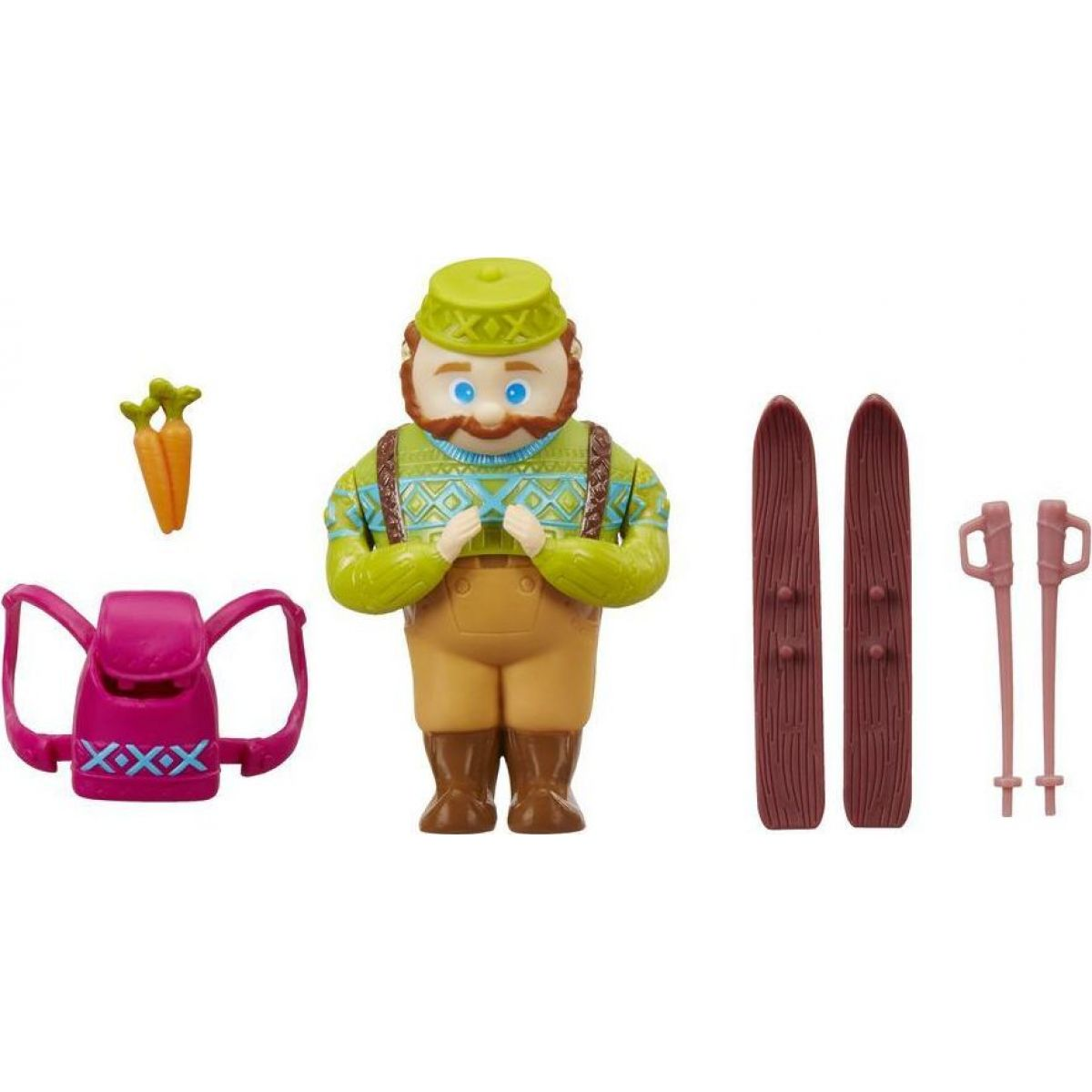 Hasbro Disney Frozen Little Kingdom Mini panenka s kamarádem Oaken's Ski Trip