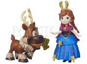 Hasbro Disney Frozen Little Kingdom Mini panenka s kamarádem - Anna & Sven