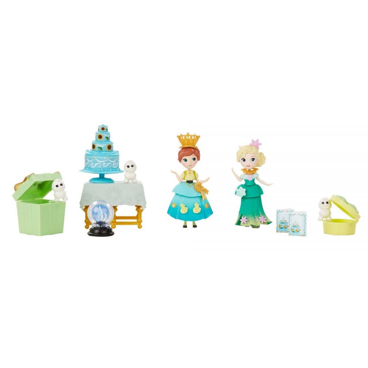 Hasbro Disney Frozen Little Kingdom Set malé panenky s příslušenstvím - Frozen Fever Celebration